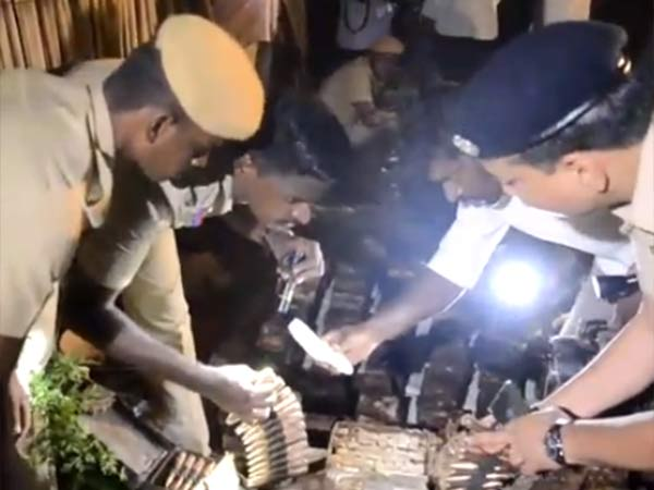 Huge number of guns and bullets seized from Rameswaram