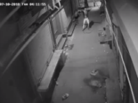 CCTV footage of a thief dancing before attempt to break into a shop in Delhi