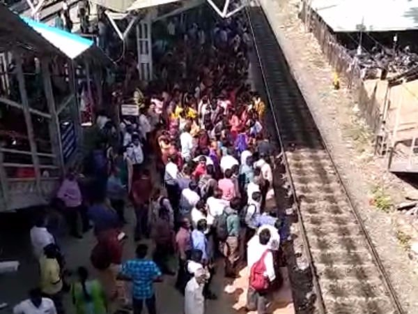 Chennai Electirc Train Issue: People are protesting against railway department