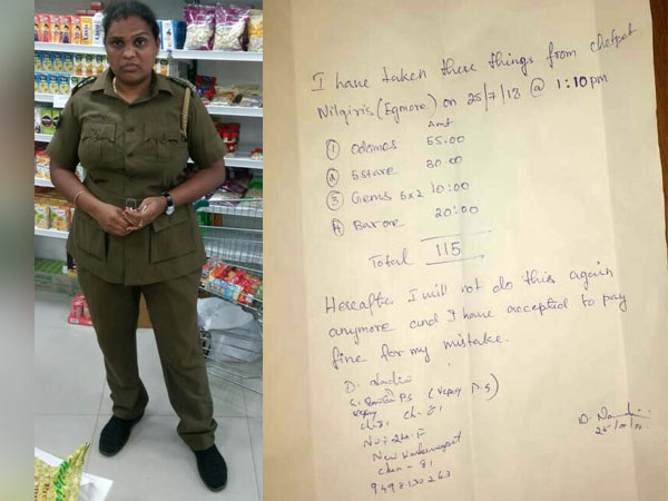 Chennai Woman Police who theft chocolates in a shop suspended