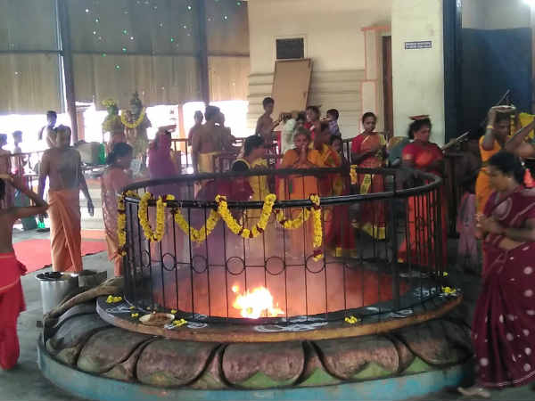 Theipirai Astami: Yagam at Sri Dhavantri peedam at Walajapet
