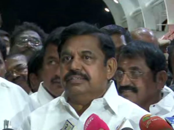 ADMK will not support No Confidence Motion says Edappadi