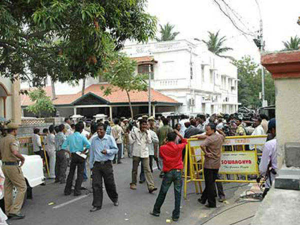 Police action has been taken to block roads leading to Gopalapuram