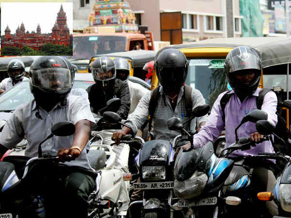 Compulsory helmet for Pillion riders in Bike orders Chennai High Court