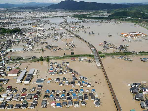 Rain continues in Japan, Flood kills 130 people, More than 300 people missing