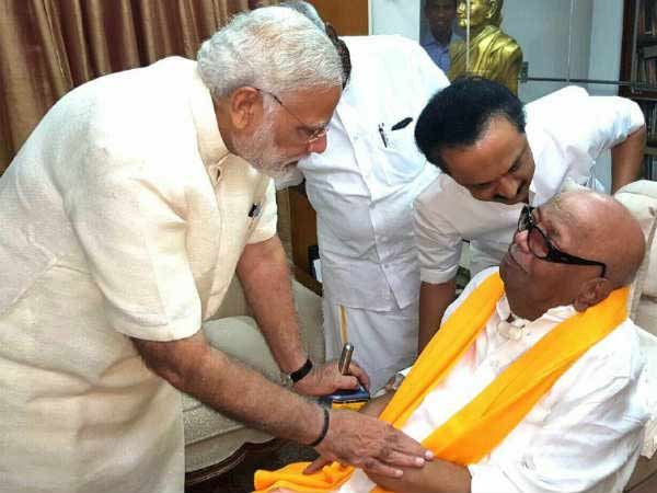 PM Modi enquired Stalin about Karunanidhis health condition