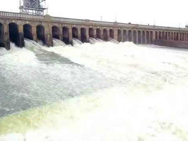 20,000 cusecs of water released from Krishna Raja Sagar dam