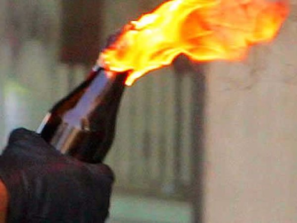 Hindu Makkal Katchi person thrown petrol bomb himself his house for police protection