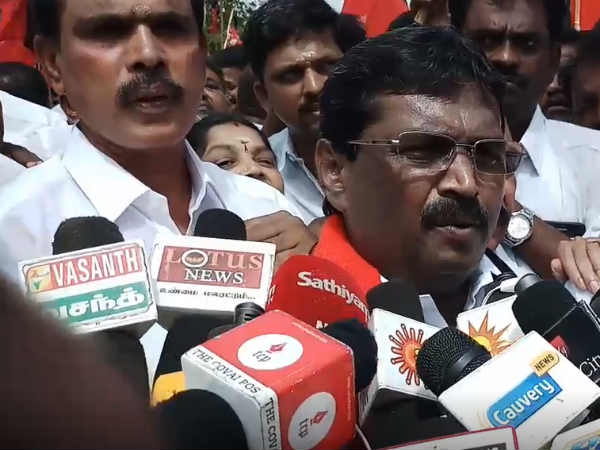 dmk protests against kovai corporation