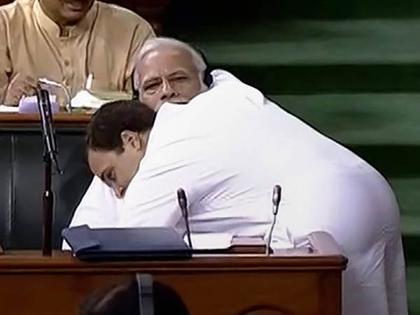 Shivsena praises Rahul for his Parliament Hug
