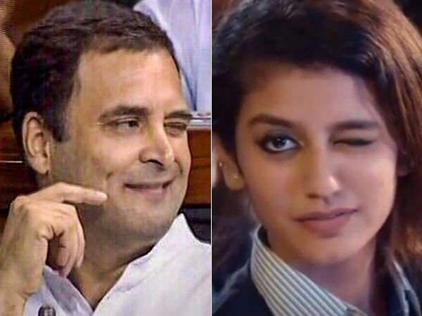 Priya prakash Varrier delight to learn Rahul Gandhi winking