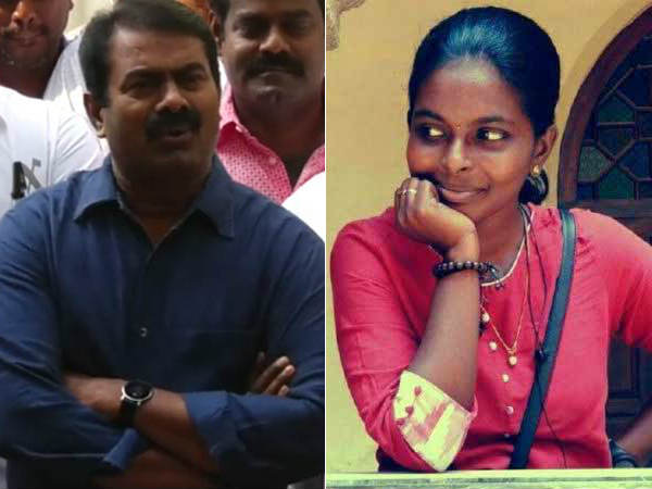 Seeman condoles the death of Shalini