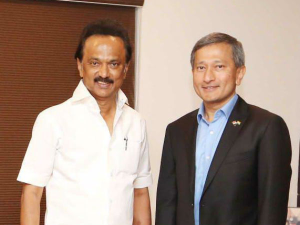Singapore Minister meets Stalin and Kamal hassan