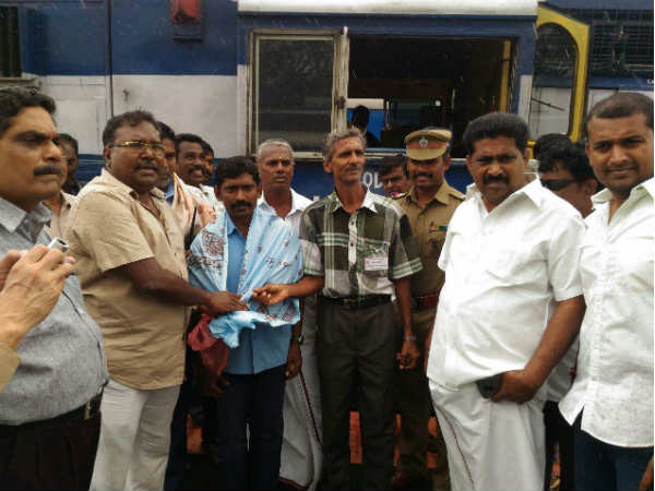 The first passenger train movement between Sengottai and Kollam today