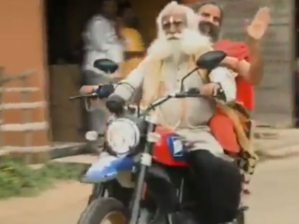 Two gurus came together for a bike ride