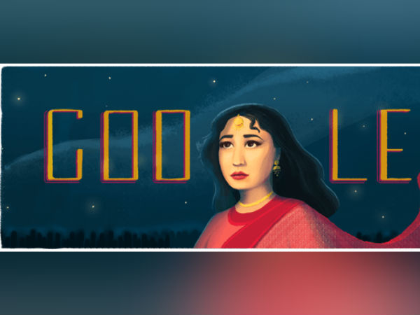 Google Doodle: The Tragedy Queen Meena Kumari appears today as her birth anniversary