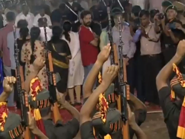 Political leaders arrived Anna Memorial at Marina