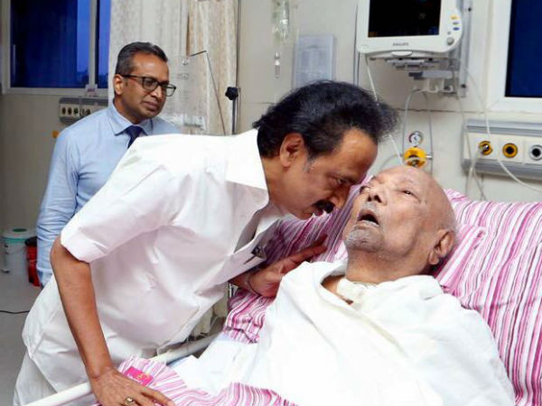 DMK leader Karunanidhi is getting treatment from July 27th Mid night in Kauveri Hospital