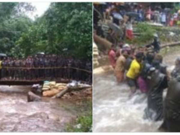 Kerala Flood: Army has recovered 100 people from the flood with the help of woods