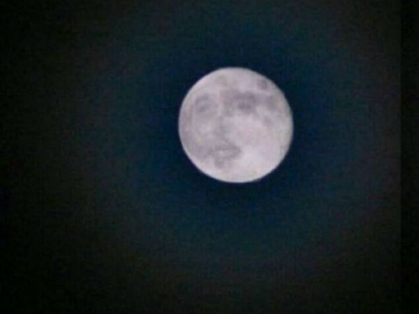 Baba face on moon in Coonoor?