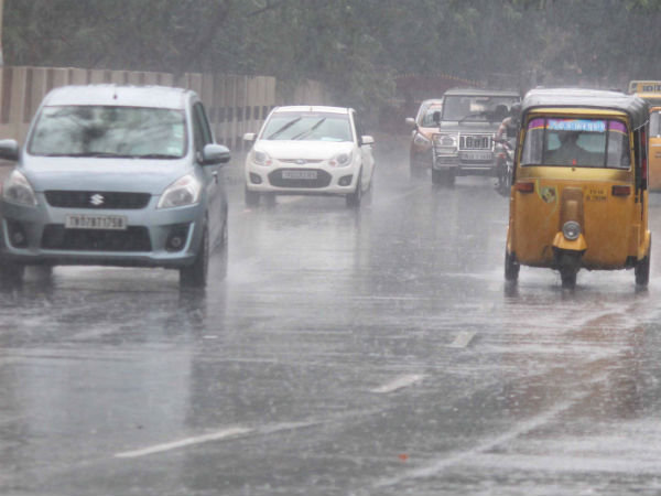 Rain hits in most of the places in Chennai
