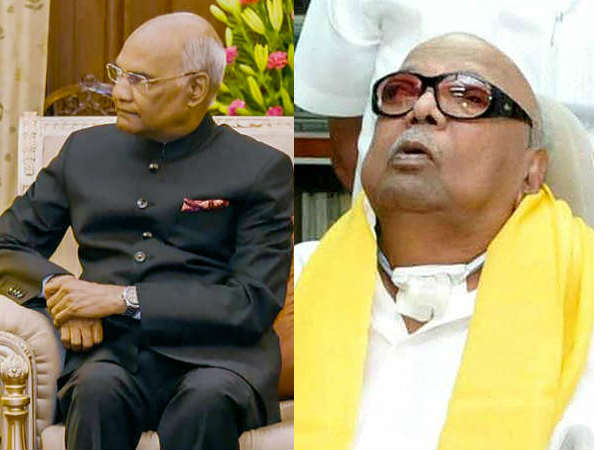 President of India Ramnath Govind condoles for Karunanidhis demise