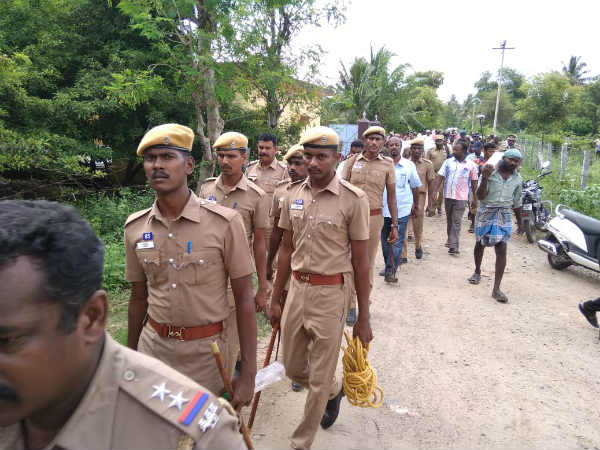 Farmers arrest for human chain protest against 8 ways road plan in Salem