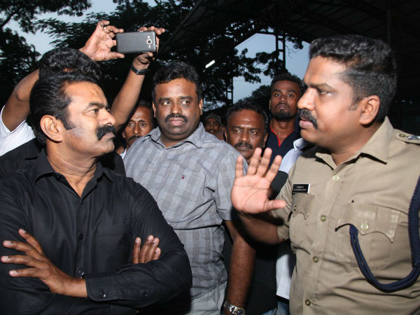 Naam Thamilar Party arrest of Seeman by Kerala Police