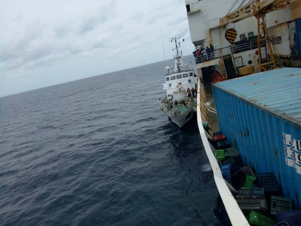 A ship met with an accident in middle of the sea
