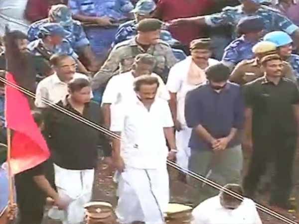 Karunanidhi: Stalin Walks all the way with DMK cadres