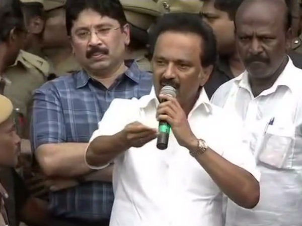 MK Stalin asks his cadres that to disperse from the Rajaji hall