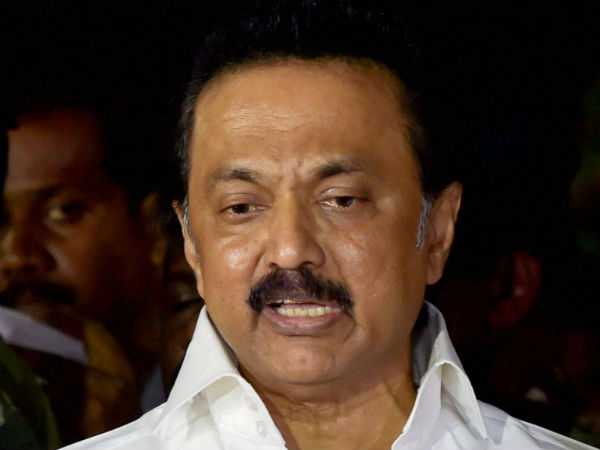 Stalin requesting DMK cadres to be quite
