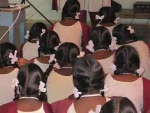 A Primary school Head Mistress separated students by caste based in class room