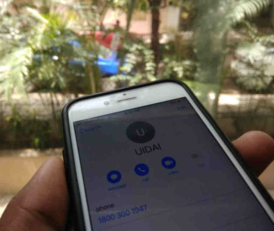 Google explain about putting old UIDAI helpline number on your phone contact