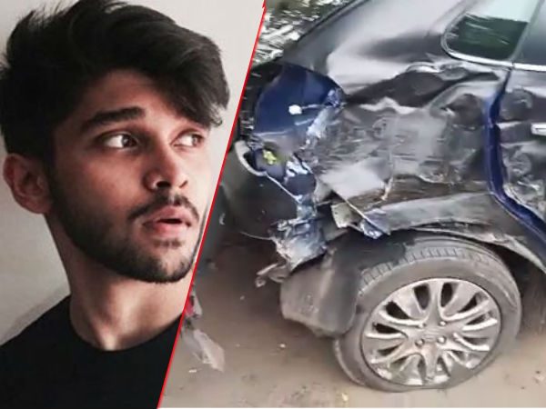 Actor Vikram Son arrested in Drunk and Drive - Rammed 3 Autos and Driver is severely injured