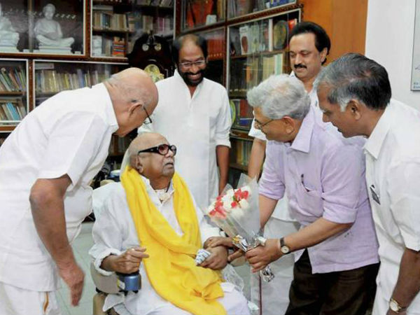 CPM's General Secretary Sitaram Yechury heartfelt condolence to Death of Karunanidhi