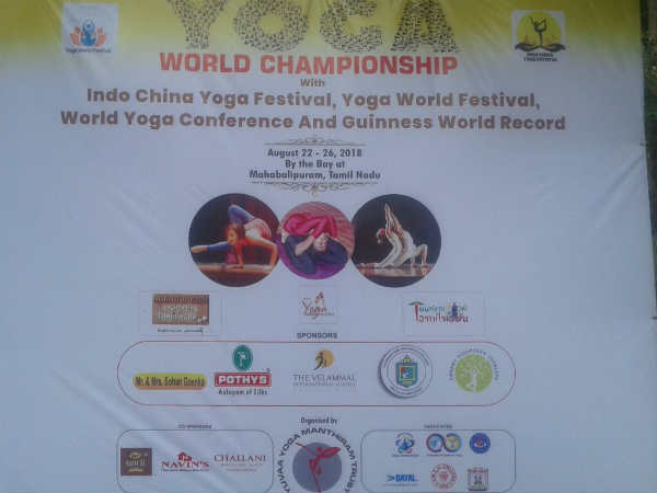 Yoga world festival 2018 at Mahabalipuram.