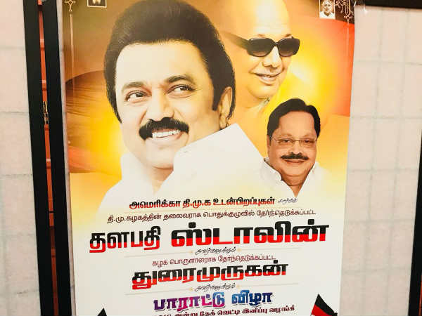 USA DMK cadres celebrated M.K.Stalin new posting as DMK chief