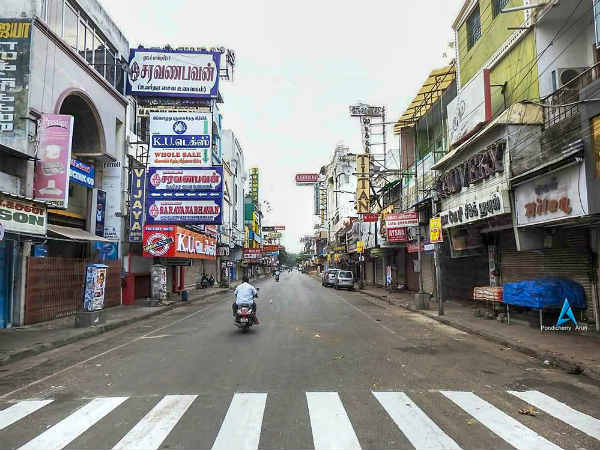 Bharath Bandh success in Puducherry