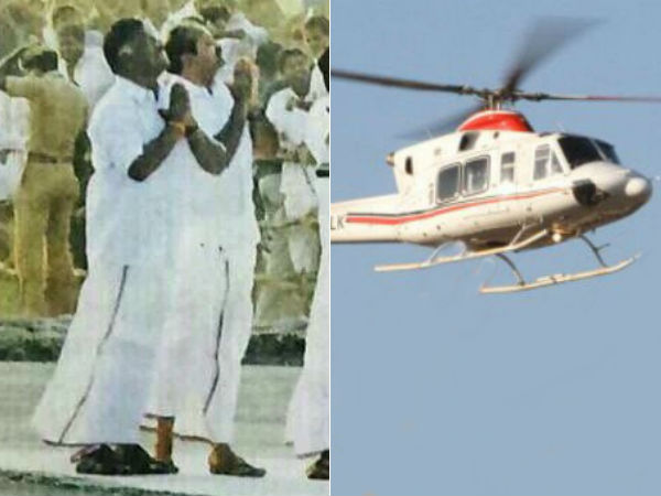 Helicopter which was used by Jayalalitha is set to sale