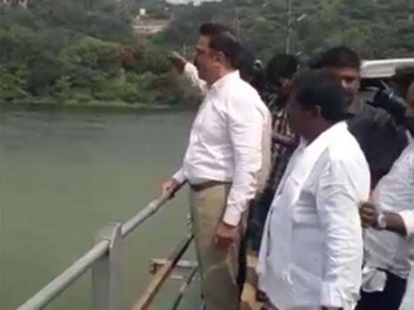 Kamal Hassan visits Mettur dam!