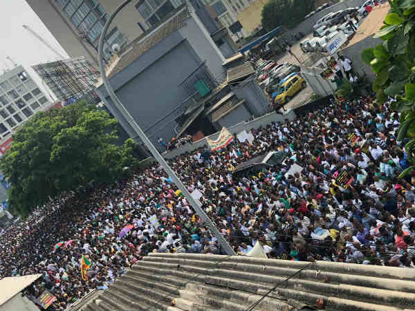UNP conducts protest against Rajapaksa in Colombo