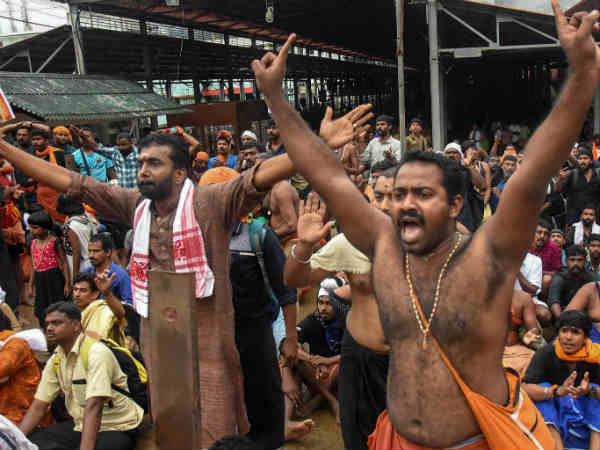 Sabarimala Protestors attacks 45 Years old woman