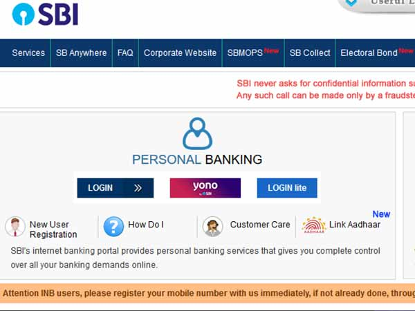 Internet banking may not work for some SBI users from December 1
