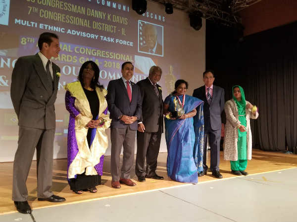 Tamilisai soundarrajan received award at Chicago and dedicated it to tamil people and BJP cadres