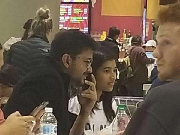 Vijay spotted in Hotel near Toronto