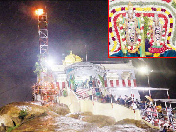 karthigai deepam festival celebrated with fervour at trichy