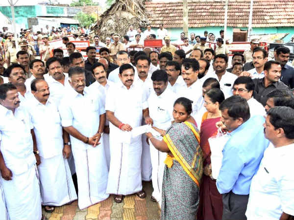 Gaja Storm: TN CM visits the Cyclone affected Pattukottai