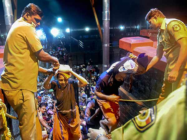 Nearly 2,300 personnel were in protection at sabarimala