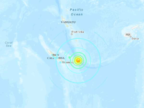 7.6 magnitude quake strikes off New Caledonia: Tsunami warning to surroundings